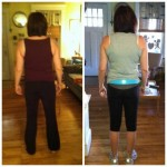 Allison before & after back view