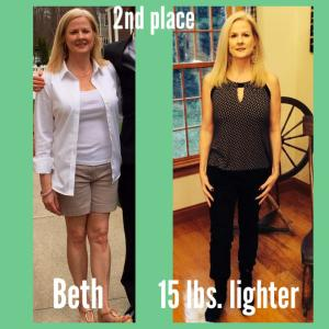 body challenge second place