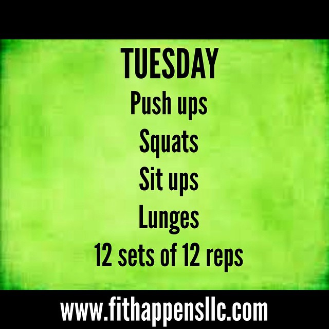 Fit Happens Instagram Workout 3-10 Tuesday