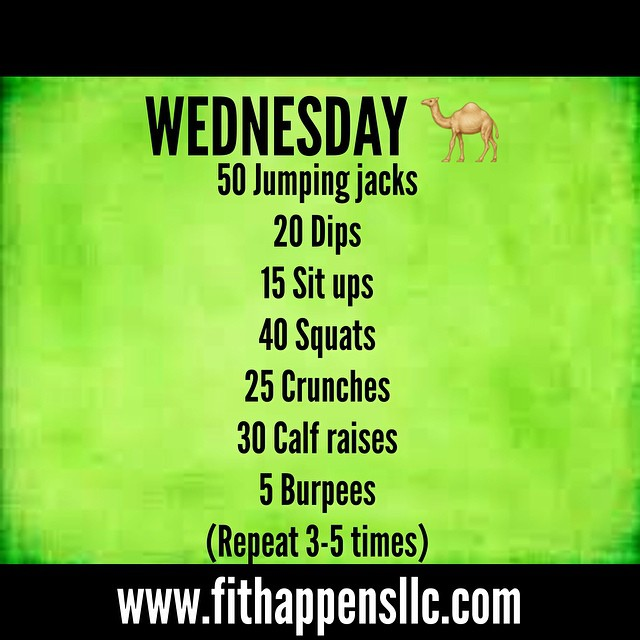 Fit Happens Instagram Workout 3-11  Wednesday