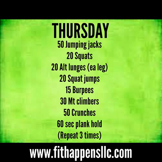 Fit Happens Instagram Workout 3-12 Thursday