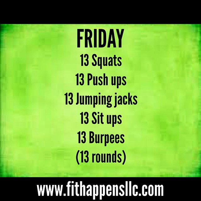 Fit Happens Instagram Workout 3-13 Friday