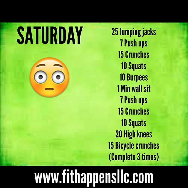 Fit Happens Instagram Workout 3-14 Saturday