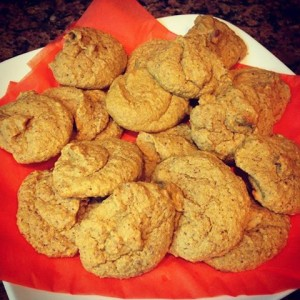 Pumpkin Oatmeal Almond Cookie recipe